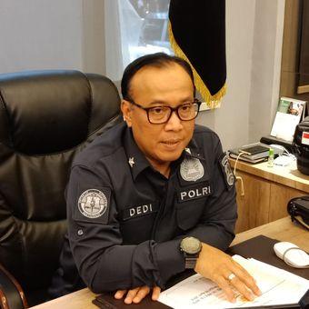 Kepala Biro Penerangan Masyarakat Divisi Humas Polri Brigjen (Pol) Dedi Prasetyo di Gedung Humas Mabes Polri, Jakarta Selatan, Kamis (11/4/2019).