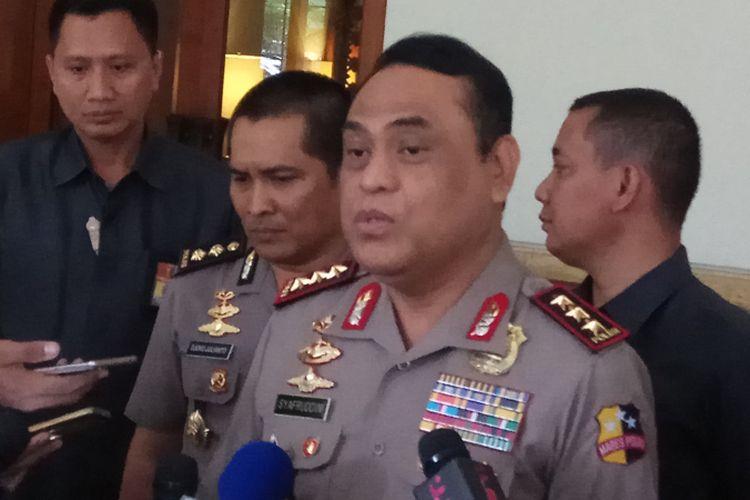 Wakil Kepala Polri Komisaris Jenderal Syafruddinmeminta pembentukan Detasemen Khusus (Densus) Pemberantasan Tindak Pidana Korupsi (Tipikor) tidak dijadikan polemik. Jakarta, Selasa (26/9/2017).