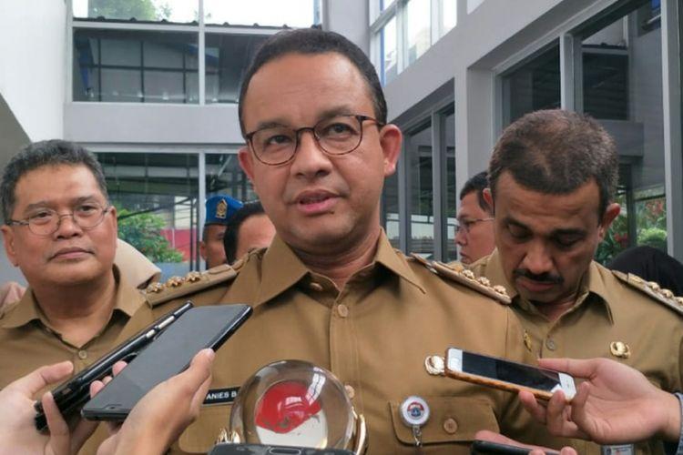 Gubernur DKI Jakarta Anies Baswedan di kawasan Rawamangun, Jakarta Timur, Senin (10/12/2018).