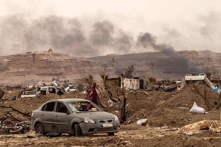 Seperti inilah kondisi Baghouz. Desa di timur Suriah sebagai lokasi akhir kekhalifahan Negara Islam Irakdan Suriah (ISIS) yang direbut pada Sabtu pekan lalu (23/3/2019).