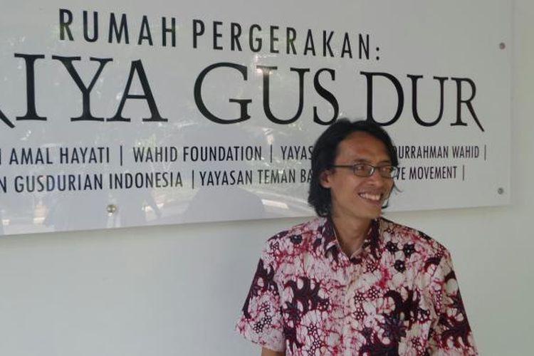 Mantan aktivis reformasi 1998, Muhammad Syafi' Ali atau yang biasa disapa Savicali, saat ditemui di Griya Gus Dur, Matraman, Jakarta Pusat, Kamis (19/5/2016).