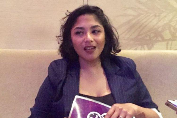 Nadine Waworuntu diwawancara di Plaza Senayan, Jakarta Selatan, pada Rabu (14/3/2018).