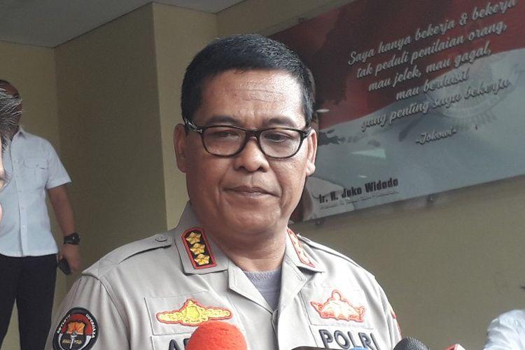 Kabid Humas Polda Metro Jaya Kombes Argo Yuwoni memberi keterangan kepada awak media di Mapolda Metro Jaya, Selasa (21/5/2019).