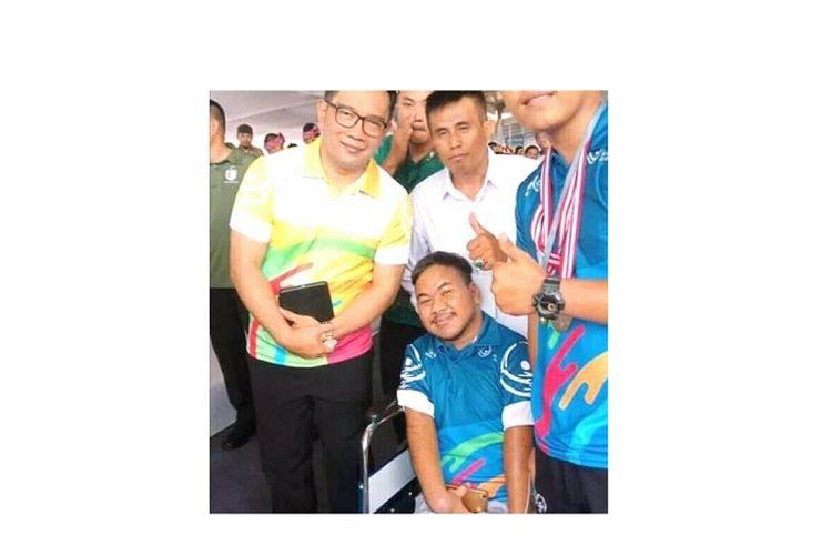 Rahmat Hidayat bersama Gubernur Jawa Barat Ridwan Kamil
