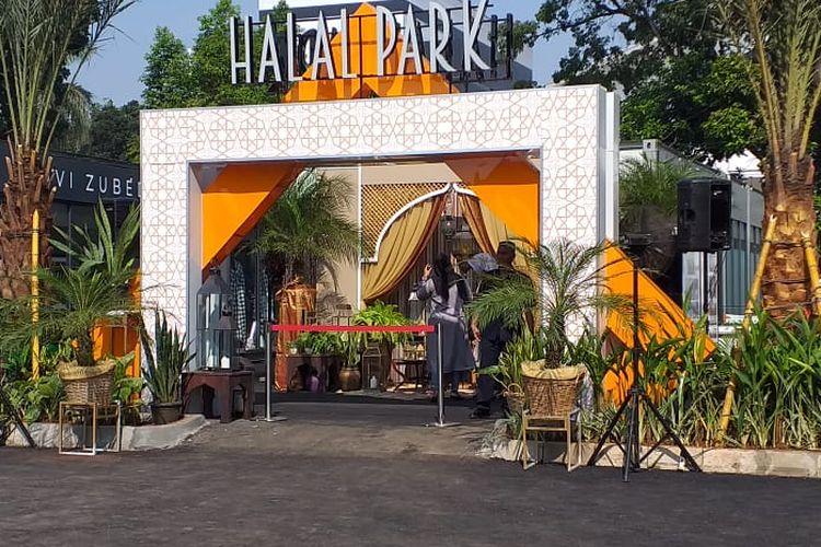 Gerbang Halal Park yang baru saja diresmikan Presiden Joko Widodo.