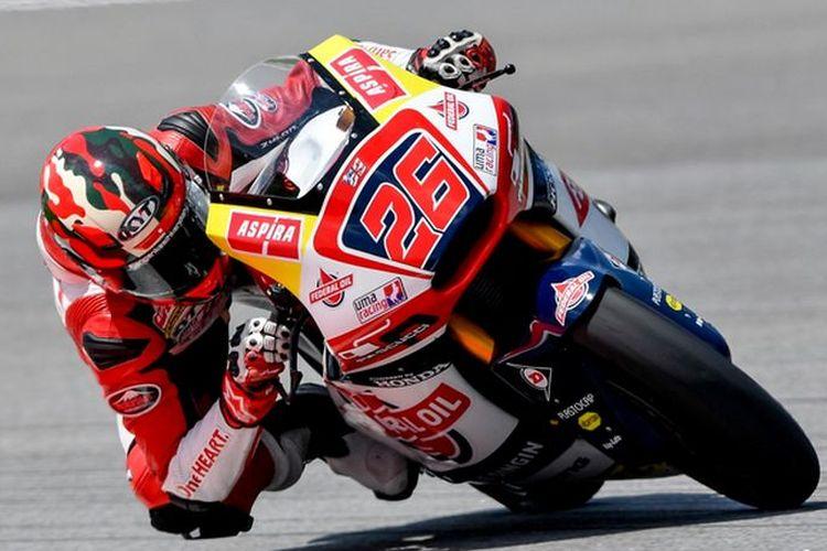 Pebalap Indonesia Dimas Ekky Pratama di Moto2 GP Malaysia