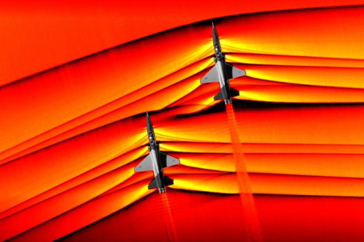 Pertama dalam sejarah, NASA potret interaksi gelombang kejut dari dua jet supersonik
