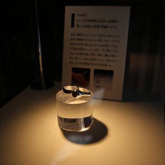 Ring pipe dipajang dalam kotak kaca di Museum Toshio Kashio, Tokyo.