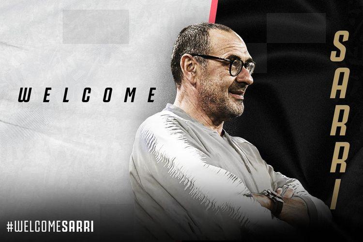 Maurizo Sarri diumumkan sebagai pelatih baru Juventus, Minggu (16/6/2019).