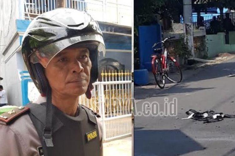 Kapolsek Bangil Lari Tunggang-langgang Dikejar Pria Pembawa Bom, Sebelum Dilempari Tas yang Kemudian Meledak