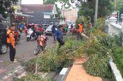 Tiga Pengendara Motor di Sukabumi Terjebak Ranting Dahan Pohon Tumbang