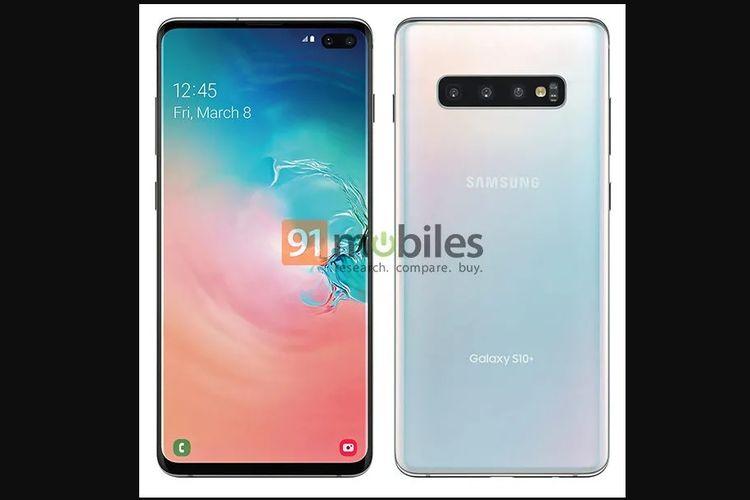 Render resmi Galaxy S10 Plus