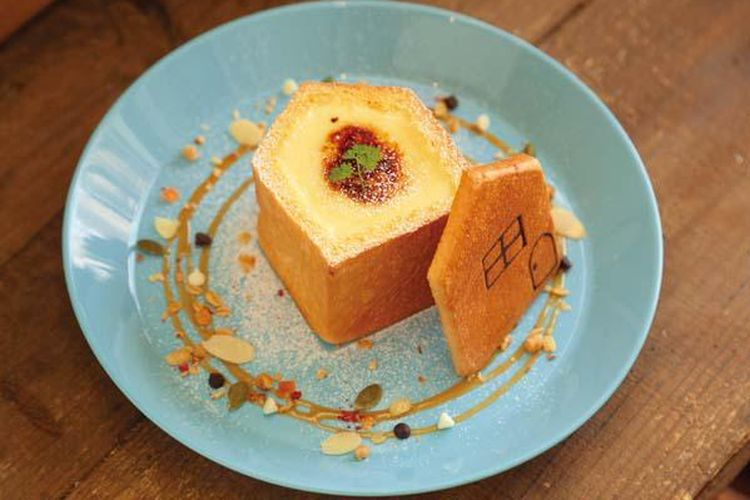 Ouchi Pan dengan krim custard.