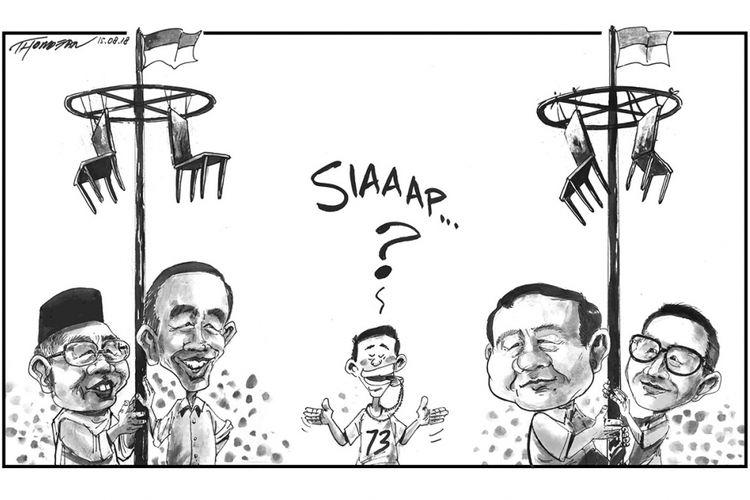 Karikatur pasangan calon presiden dan wakil presiden 2019.