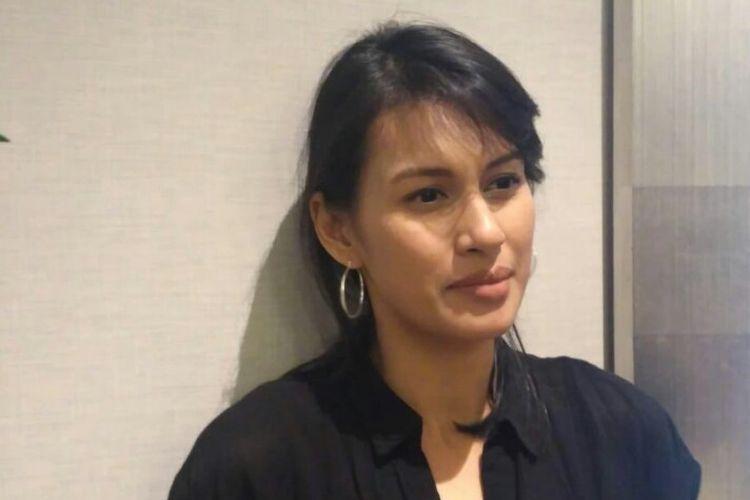 Artis peran Raihaanun saat ditemui usai acara Festival Film Tempo 2018 di XXI Epicentrum, Kuningan, Jakarta Selatan, Kamis (6/12/2018).