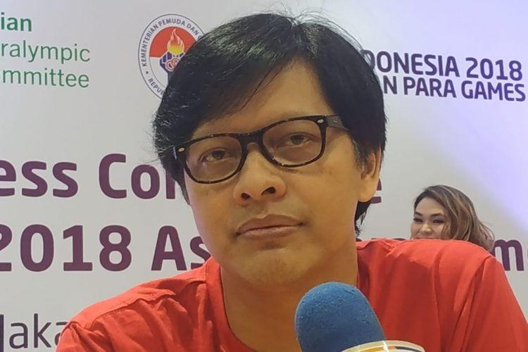 Armand Maulana saat ditemui di GBK Arena, Senayan, Jakarta Pusat, Senin (24/9/2018).