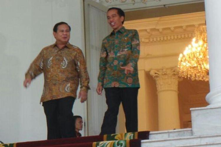 Presiden Joko Widodo bersama Ketua Umum Partai Gerindra Prabowo Subianto di Istana Bogor, Kamis (29/1/2015)