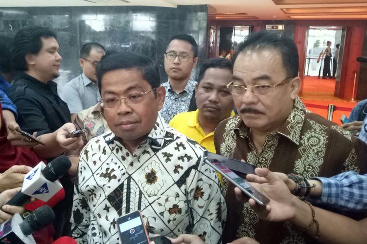 Sekretaris Jenderal Golkar Idrus Marham di Kompleks Parlemen, Senayan, Jakarta