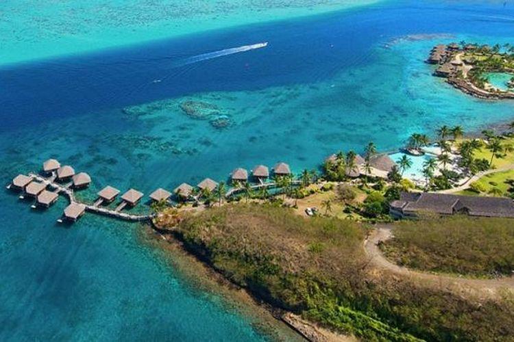 Tahiti, pulau terbesar di Polinesia Perancis.