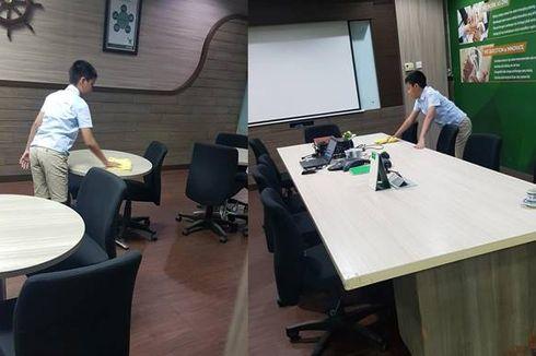 Viral Anak Bos Rela Bersih-bersih di Kantor Ayahnya demi