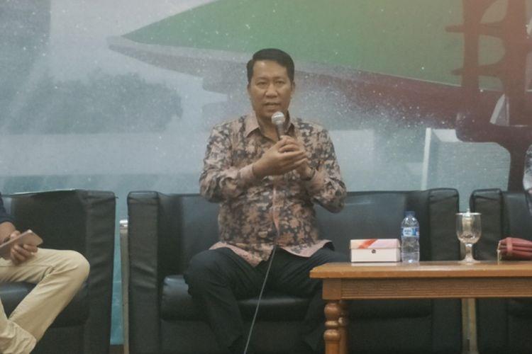 Ketua Badan Legislasi DPR RI Supratman Andi Agtas dalam sebuah diskusi di Kompleks Parlemen, Senayan, Jakarta, Selasa (5/3/2019).