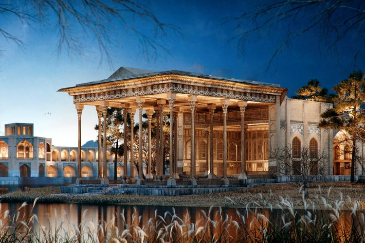 Rekonstruksi digital Ayine Kahaneh Palace