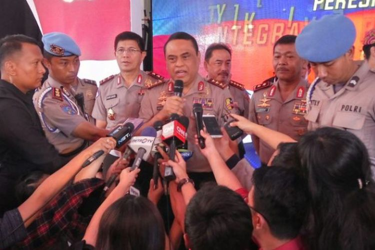 Wakil Kepala Polri Komjen Syafrudin di Mapolda Metro Jaya, Senin (13/11/2017).