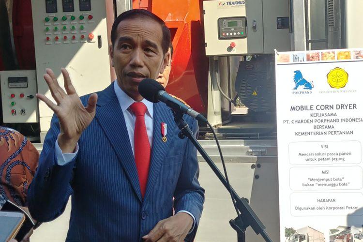 Presiden Jokowi meninjau pameran Indolive Stockdi JCC, Senayan, Jumat (6/7/2018).
