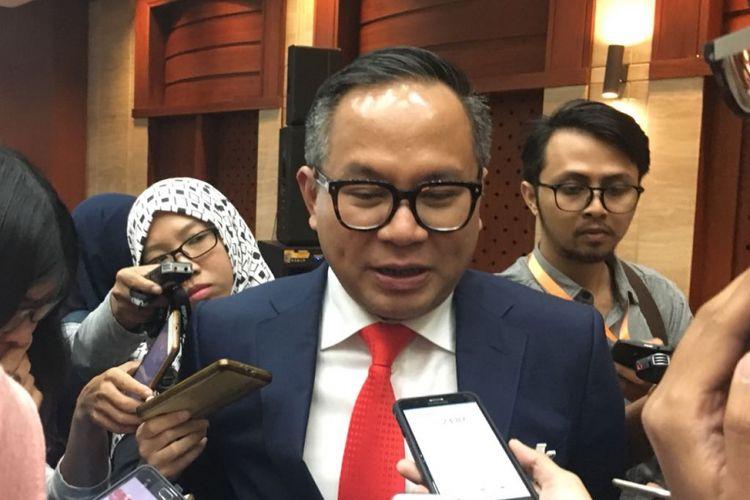 Direktur Utama Bank Mandiri Kartika Wirjoatmodjo usai Paparan Publik di Plaza Mandiri, Selasa (6/2/2018)