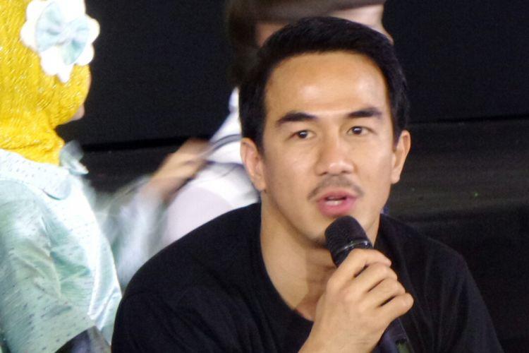 Joe Taslim berbicara mengenai film yang dibintanginya, Surat Kecil untuk Tuhan, di CGV Blitz Megaplex, Grand Indonesia, Tanah Abang, Jakarta Pusat, pada Selasa (20/6/2017).