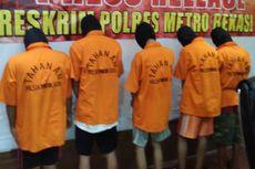 Polisi Tahan 5 Tersangka Pengeroyok Polisi di Bekasi