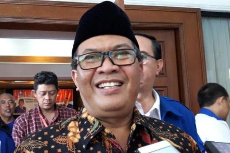 Oded M Danial usai rapat Pleno PAN di Hotel Horison, Jalan Pelajar Pejuang 45, Bandung, Sabtu (6/1/2018).