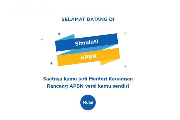 Simulasi APBN dari Kementerian Keuangan