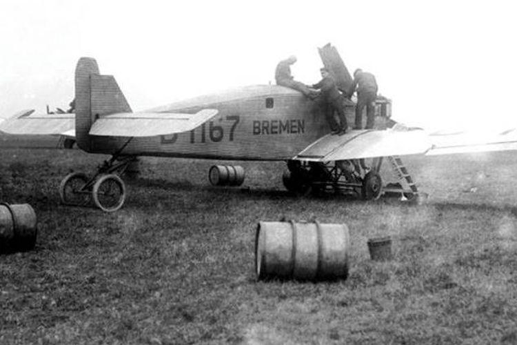 Pesawat Bremen yang digunakan untuk misi penerbangan transatlantik