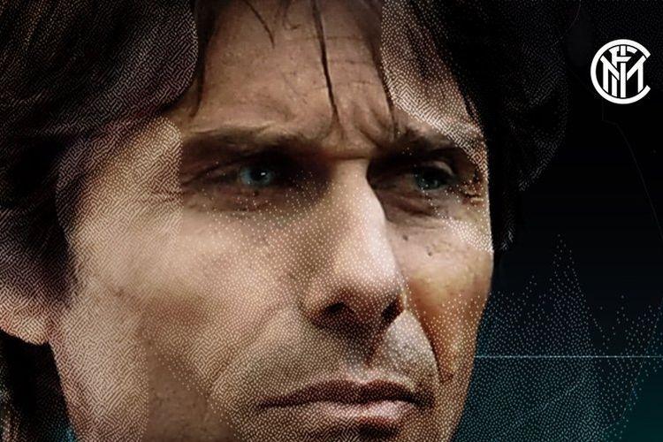 Grafis perkenalan Antonio Conte sebagai pelatih baru Inter Milan dirilis pada 31 Mei 2019.