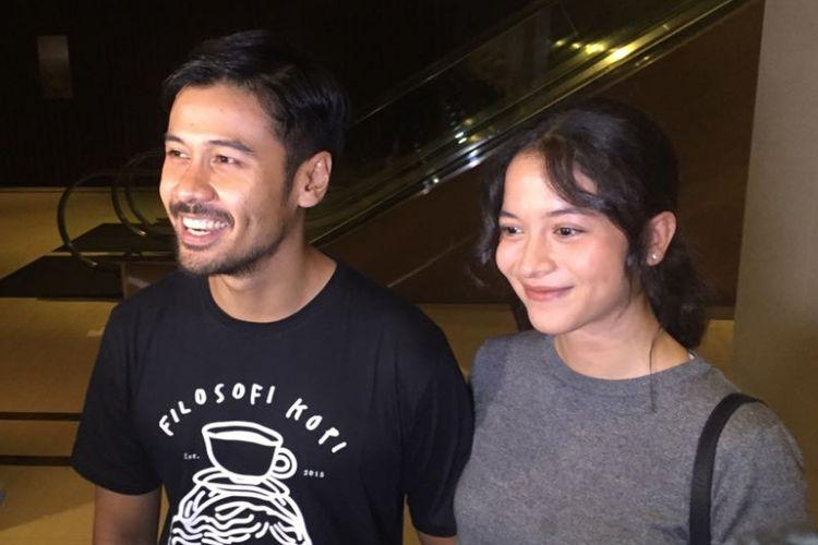 Chicco Jerikho dan Putri Marino di Hotel Fairmont, Jakarta Pusat, Rabu (30/5/2018).