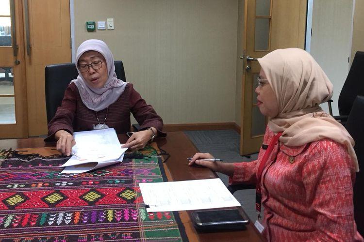 Kepala Dinas Kesehatan DKI Jakarta, Widyastuti, di kantor Dinas Kesehatan, Jalan Kesehatan, Jakarta Pusat,  Kamis (11/7/2019)