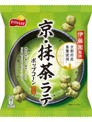 Nikmati perpaduan rasa jagung dan matcha latte dalam satu gigitan Kyo Matcha Latte Popcorn dari Frito Lay.