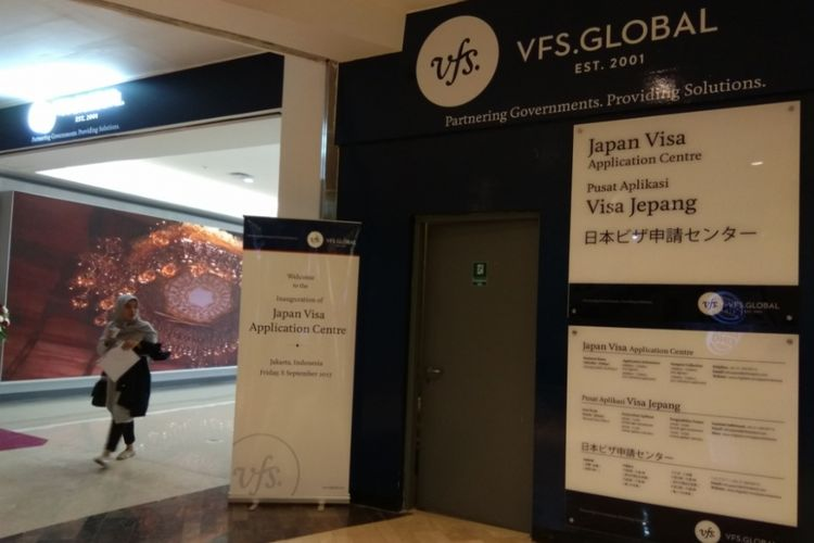 Japan Visa Application Centre di Jakarta.