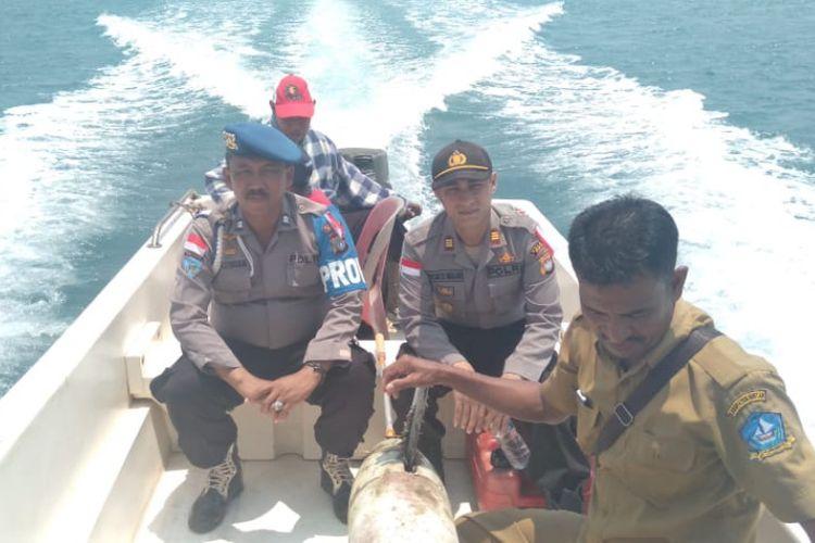 Benda aneh yang ditemukan nelayan Pulau Tenggel, Kecamatan Bintan Pesisir, Kabupaten Bintan, Kepulauan Riau, Sabtu (23/3/2019) siang kemarin, yang sempat diduga rudak ternyata drone laut.