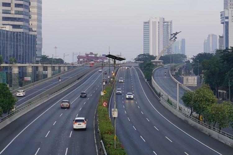 Suasana Jakarta saat Lebaran 5/6/2019.