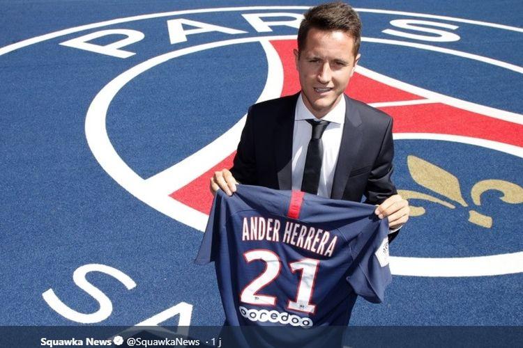 Ander Herrera resmi berbaju Paris Saint Germain (PSG).