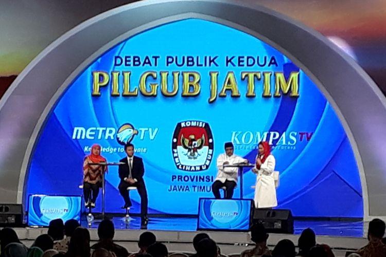Debat publik kedua Pilkada Jatim pada 8 Mei 2018.