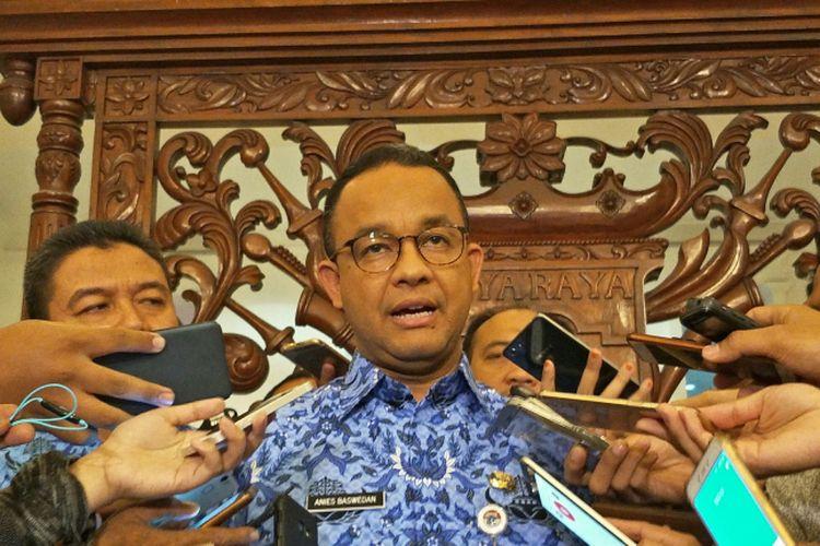 Gubernur DKI Jakarta Anies Baswedan di Balai Kota DKI Jakarta, Jalan Medan Merdeka Selatan, Rabu (29/11/2017).
