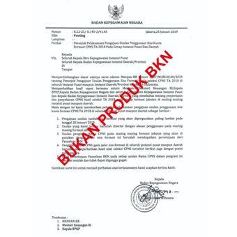 Surat palsu yang mengatasnamakan BKN