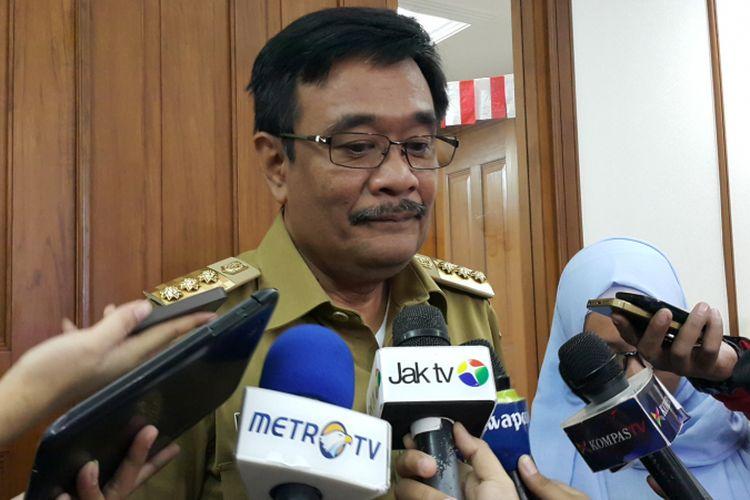 Gubernur DKI Jakarta Djarot Saiful Hidayat di Balai Kota DKI Jakarta, Jalan Medan Merdeka Selatan, Senin (14/8/2017).