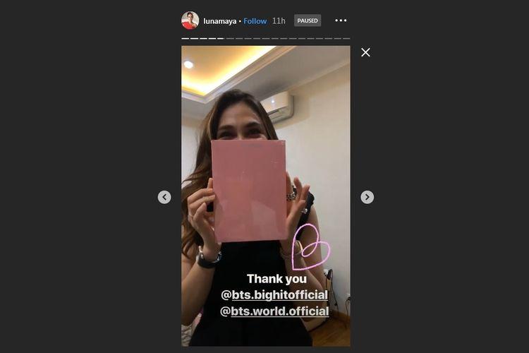 Luna Maya mengucapkan terima kasih pada Big Hit Entertainment