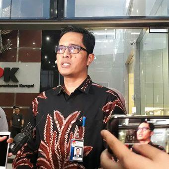 Juru Bicara KPK, Febri Diansyah, di gedung KPK, Kuningan, Jakarta, Selasa (13/2/2018).