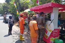 Ganggu Pejalan Kaki, PKL dan Ojol yang Kerap Mangkal di Trotoar Lenteng Agung Ditertibkan