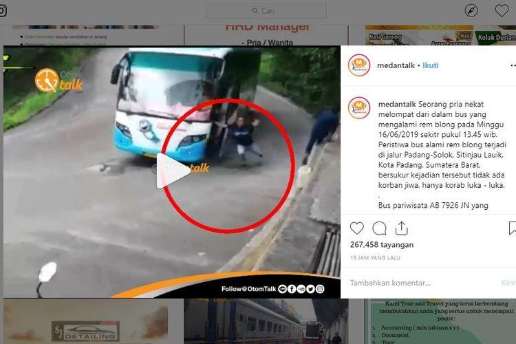 Viral bus diduga rem blong